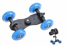 Uk magasin! cameraplus-Flex skater dolly (bleu) pour dslr / point & shoot cameras