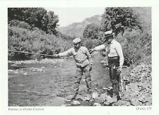 "*Utah Postcard-""Fishing In Ogden Canyon""  *Ogden, UT (H6)"
