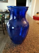 Beautiful Cobalt Blue vases, 12 inches tall, hourglass shape