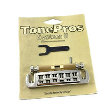 Tone Pros Nickel AVT2G Locking Wraparound Bridge for Gibson® Guitar GB-2578-001