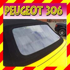 Peugeot 306 Cabriolet Lunette Arrière Fenêtre PVC avec Fermeture Éclair +
