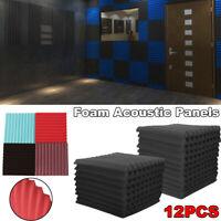 12tlg Schalldämmung Panels 25x25cm Studio Soundproofing Schaumstoff Absorber