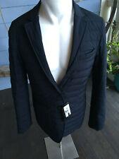Emporio Armani Down Sport Jacket Size Small 36 Reversible Navy NWT $895