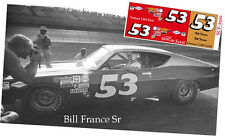 CD_2510 #53 Big Bill France Sr.   Ford Fairlane  1:25 Scale Decals