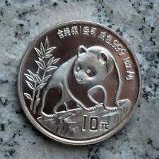 10 Yuan 1990 Silbermünze China - Panda - 1 Oz.999er Silber Erhaltung,selten !