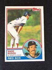 1983 Topps Wade Boggs Rookie RC #498 NM-MINT HOF Boston Red Sox *64