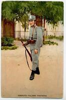 ESERCITO ITALIANO Fanteria Fante con Fucile PC WWI Circa 1917