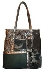 NEW Kathy Van Zeeland Patch Me Up Cork Camo Medium Shopper Purse Tote HandBag