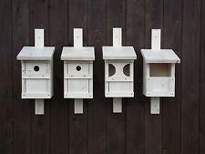 4 verschiedene Nistkästen aus Fichtenholz, Vogelhäuschen, Nistkasten Fichte