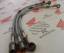 Honda CB 500 550 Four Stahlflex Bremsleitung Set Titan Doppel Bremsscheibe