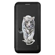 Etui pour iPhone 5 / 5S / SE (2016) Noir motif Tigre blanc