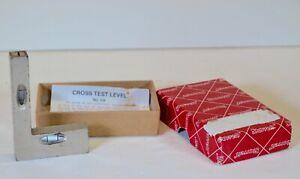 Starrett No134 Cross test level square  machinist tool w/box