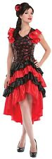 Ladies Sexy Red Spanish Flamenco Dancer Fancy Dress Costume Outfit UK 10-12-14