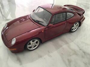 UT Models 1/18 Scale Diecast - Porsche 911 Turbo 993 Met Red Unboxed