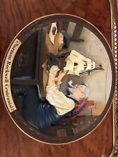 "Norman Rockwell 00004000  Centennial 3D 8"" Collectors Plate - ""The Ship Builder"""