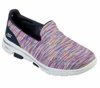 Skechers Shoes Navy Multi Go Walk 5 Women's Casual Slip On Comfort Sporty 15904