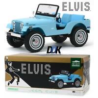 GREENLIGHT 19061 Jeep CJ-5 - Sierra Blue - Elvis Presley Diecast Model Car 1:18