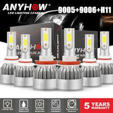 9005+9006+H11 LED Headlight Hi/Low Beam Bulb 6000K 6000W 780000LM Fog Light Sets