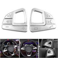 Steering Wheel Button Silver Trim Sequins For Mercedes Benz E class W213 BS2 BS2