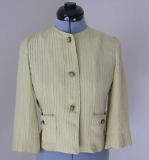 TALBOTS COLLECTION PETITES PALE GREEN LIGHT WEIGHT PLEATED SILK JACKET-SIZE 2P