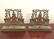 The Student Antique Judd Mfg Co Art Nouveau Cast Iron Decorative Bookends 9741