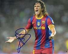 Carlos Puyol SIGNED 10X8 PHOTO Barcelona & Spain AFTAL COA (1319)