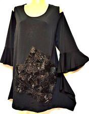 plus sz XL / 24 TS TAKING SHAPE Moonlit Night Top tunic soft stretchy NWT rp$120