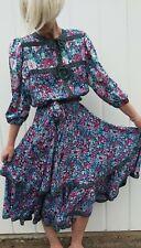 DIANE FRIES STUNNING VINTAGE  DRESS FLORAL 10  12