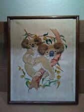 Vintage Jiffy Koala and Cub Crewel Embroidery Kit Sealed 5x7