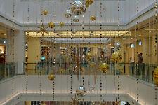 "80"" Long Retro PVC Metallic Gold Beaded Curtain Strand/Garland 4 PCS  (GA,USA)"