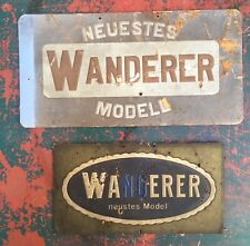 2 Sehr Alte Wanderer Werbepappen