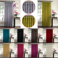 Polyester Embroidered Tab Top Curtains & Pelmets