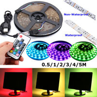 5V USB RGB 5050 Waterproof LED Strip Lamp TV Back Lighting Kit + Remote Control