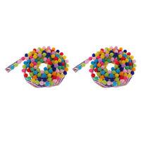 2yd DIY Sewing Embroidery Trim Ribbon Pom Pom Ball Fringe Ribbon Crafts Lace