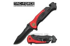 "10.5"" FIRE FIGHTER RESCUE SPRING ASSISTED FOLDING KNIFE Blade Pocket Open Switch"