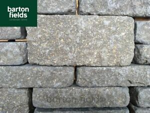 Garden Walling Stone, Tumbled Finish in 2 Sizes, 5.2m2 Project Pack, Colour:Grey