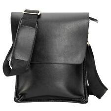 Hombres de cuero genuino negocio bolso bandolera negro marrón nuevo popular moda