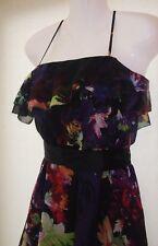 Coast Floral Multicoloured Ella Ruffle Dress Size 10