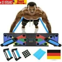 9 in 1 Push Up Rack Board System Fitness Workout Train Gym Exercise Stands BO AA