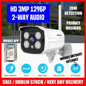 Srihome IP Camera WiFi Outdoor Full HD AI 2MP>3MP 1080P>1296P Bullet CCTV System