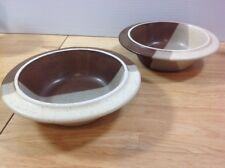 Fabrik Agate Pass Brown 2 Rimmed Soup Cereal Bowls Jim McBride Seattle Stoneware