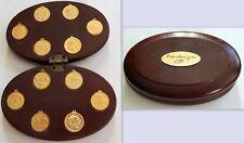 Pietro ANNIGONI 12 medaglie serie segni zodiacali contenitore legno originale