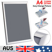 A4 Aluminum Wall Poster Frame Snap Clip Sign Holder PVC Cover Elevator Billboard