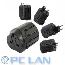 Universal World Travel AC Adapter Converter AU UK EU US for 150 Countries Black