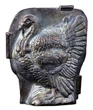"""Resin Turkey Candy Mold Figure w/ Antiqued Silver Finish Fall Thanksgiving 5"""""""