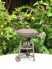 Miniature Dollhouse FAIRY GARDEN ~ Mini Rustic Metal Barbecue BBQ Grill ~ NEW
