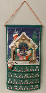 Avon 1987 Vintage Mouse Advent Calendar with Original Mouse