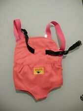 BUILD A BEAR STUFFED ANIMAL CARRIER PACK PINK ADJUSTABLE STRAPS NICE!!