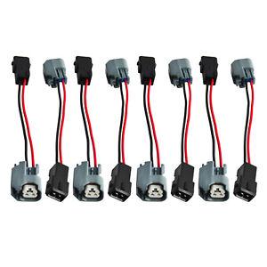 8PCS LS2/LS3/LS7 EV6 Fuel Injector Nozzle Plug Connector Adapter LS1 LS6 LT1 EV1