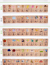 Chinese characters wood cards with 200 Chinese characters pinyin 100 pcs /set